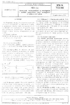 Sklejka - Oznaczanie wytrzymałości na rozciąganie i modułu sprężystości przy rozciąganiu w płaszczyźnie płyty BN-70/7121-03