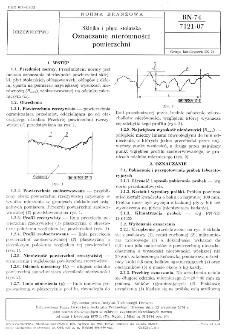 Sklejka i płyta stolarska - Oznaczanie nierówności powierzchni BN-74/7121-07