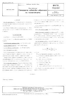 Płyty pilśniowe - Oznaczanie wskaźnika odporności na rozwarstwianie BN-78/7122-03