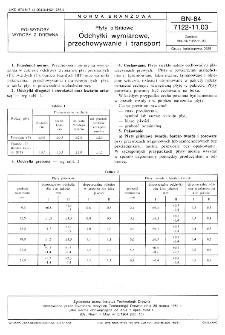 Płyty pilśniowe - Odchyłki wymiarowe, przechowywanie i transport BN-84/7122-11.03