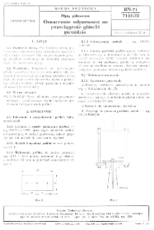 Płyty pilśniowe - Oznaczanie odporności na przeciąganie główki gwoździa BN-71/7122-22