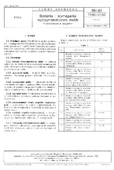 Badania i wymagania wytrzymałościowe mebli - Postanowienia ogólne BN-82/7140-12.00