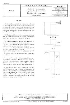 Badania i wymagania wytrzymałościowe mebli - Meble skrzyniowe - Stateczność BN-82/7140-12.01
