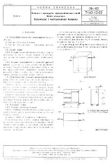 Badania i wymagania wytrzymałościowe mebli - Meble skrzyniowe - Sztywność i wytrzymałość korpusu BN-82/7140-12.02