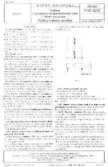 Badania i wymagania wytrzymałościowe mebli - Meble skrzyniowe - Wytrzymałość szuflad BN-82/7140-12/05