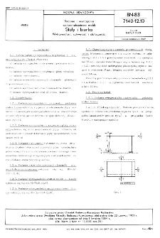 Badania i wymagania wytrzymałościowe mebli - Stoły i biurka - Wytrzymałość, sztywność i stateczność BN-83/7140-12.10