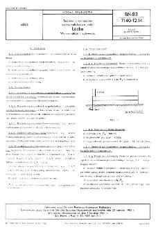 Badania i wymagania wytrzymałościowe mebli - Łóżka - Wytrzymałość i sztywność BN-83/7140-12.14
