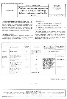 Celuloza siarczanowa papiernicza bielona z surowca liściastego (bukowa wiskozowa przeklasyfikowana) BN-70/7312-09