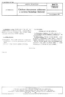 Celuloza siarczanowa wiskozowa z surowca liściastego (bukowa) BN-70/7312-10