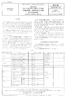 Surowce dla przemysłu papierniczego - Odpadki włókiennicze sortowane - Postanowienia ogólne BN-80/7311-01.00