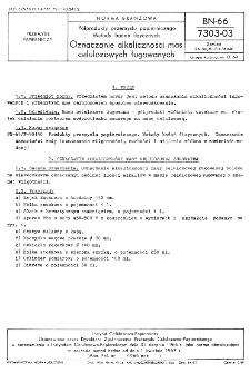 Półprodukty przemysłu papierniczego - Metody badań fizycznych - Oznaczanie alkaliczności mas celulozowych ługowanych BN-66/7303-03
