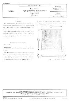 Płyty pilśniowe - Płyty porowate perforowane i nacinane - Wymagania BN-79/7122-11/14
