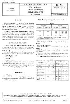 Płyty pilśniowe - Płyty porowate grzyboodporne - Wymagania BN-80/7122-11/15