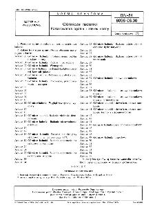 Górnicze ładunki - Postanowienia ogólne i zakres normy BN-84/6096-06.00