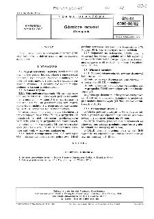 Górnicze ładunki - Wymagania BN-84/6096-06/02