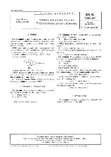 Materiały wybuchowe inicjujące - Trójnitrorezorcynian ołowiawy BN-90/6092-03