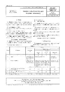 Materiały wybuchowe inicjujące - Azydek ołowiawy BN-90/6092-04