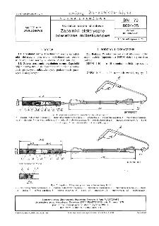 Górnicze środki strzałowe - Zapalniki elektryczne powietrzne milisekundowe BN-79/6094-25