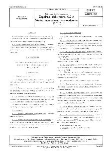 Górnicze środki strzałowe - Zapalniki elektryczne 0,2 A - Skalne momentalne termoodporne 150ºC BN-75/6094-38