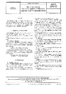 Górnicze środki strzałowe - Górnicze zapalniki elektryczne węglowe 0,20 A decysekundowe BN-79/6094-42