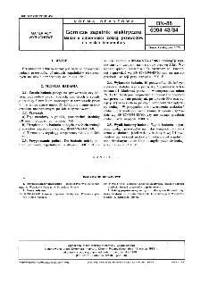 Górnicze zapalniki elektryczne - Badanie odporności izolacji przewodów na niskie temperatury BN-88/6094-43/34