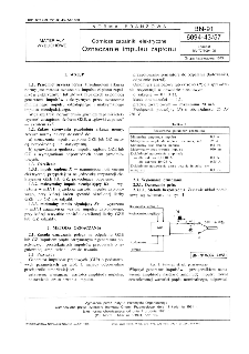Górnicze zapalniki elektryczne - Oznaczanie impulsu zapłonu BN-91/6094-43/57
