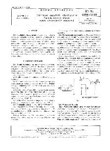 Górnicze zapalniki elektryczne - Badanie bezpieczeństwa wobec elektryczności statycznej BN-90/6094-43/59
