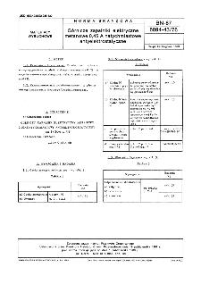 Górnicze zapalniki elektryczne metanowe 0,45 A natychmiastowe antyelektrostatyczne BN-87/6094-43/76