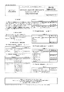 Górnicze zapalniki elektryczne metanowe 0,45 A natychmiastowe BN-90/6094-43/78