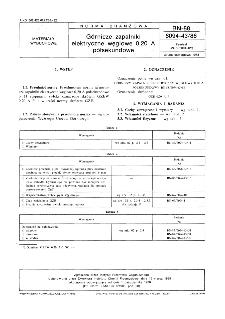 Górnicze zapalniki elektryczne węglowe 0,20 A półsekundowe BN-88/6094-43/86