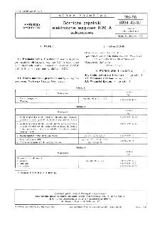 Górnicze zapalniki elektryczne węglowe 0,20 A sekundowe BN-88/6094-43/87