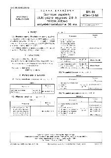 Górnicze zapalniki elektryczne węglowe 2,0 A milisekundowe antyelektrostatyczne 26 ms BN-88/6094-43/88