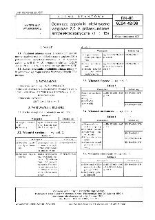 Górnicze zapalniki elektryczne węglowe 2,0 A półsekundowe antyelektrostatyczne (1 ÷ 15) BN-90/6094-43/96