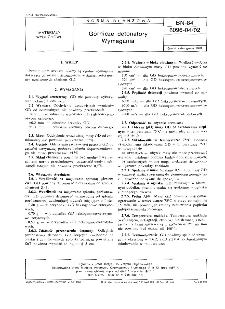 Górnicze detonatory - Wymagania BN-84/6096-04/02