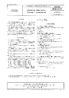 Górnicze detonatory - Podział i oznaczenie BN-84/6096-04/01