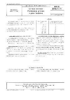 Górnicze detonatory - Pobieranie próbek i plan badania BN-87/6096-04/04