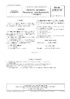 Górnicze detonatory - Pakowanie, przechowywanie i transport BN-84/6096-04/05