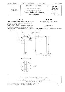 Wyroby pirotechniczne sygnalizacyjno-ratunkowe - Petarda (spłonka) kolejowa ostrzegawcza BN-74/6095-06