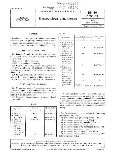 Nitroceluloza dynamitowa BN-80/6093-33