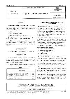 Azydek sodowy techniczny BN-74/6099-07