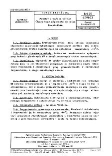 Materiały wybuchowe górnicze - Oznaczanie odporności na niską temperaturę BN-75/6091-03