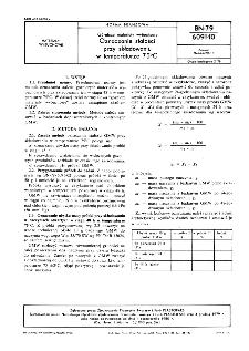 Górnicze materiały wybuchowe - Oznaczanie stałości przy składowaniu w temperaturze 75ºC BN-79/6091-10