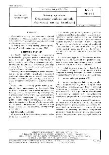 Materiały wybuchowe - Oznaczanie stałości metodą różnicowej analizy termicznej BN-76/6091-41