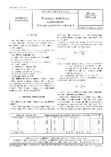 Górnicze materiały wybuchowe - Obliczanie parametrów użytkowych BN-80/6091-42