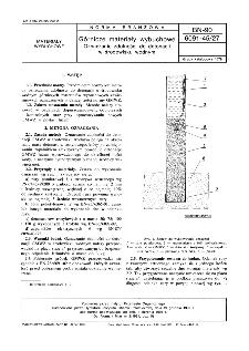 Górnicze materiały wybuchowe - Oznaczanie zdolności do detonacji w środowisku wodnym BN-90/6091-45/27