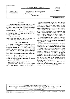 Zapalniki elektryczne - Badanie bezpieczeństwa wobec pyłu węglowego BN-69/6094-10