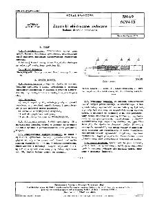 Zapalniki elektryczne zwłoczne - Badanie działania opóźniacza BN-69/6094-13