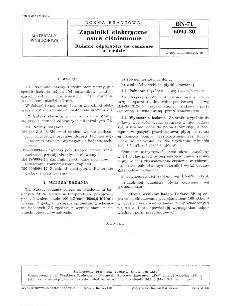 Zapalniki elektryczne ostre ciśnieniowe - Badanie odporności na ciśnienie w wodzie BN-71/6094-30