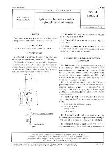 Iglica do badania czułości spłonek nakłuciowych BN-73/6094-34