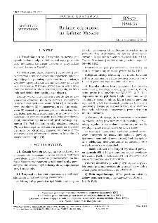 Badanie odporności na kafarze Masseta BN-73/6094-35